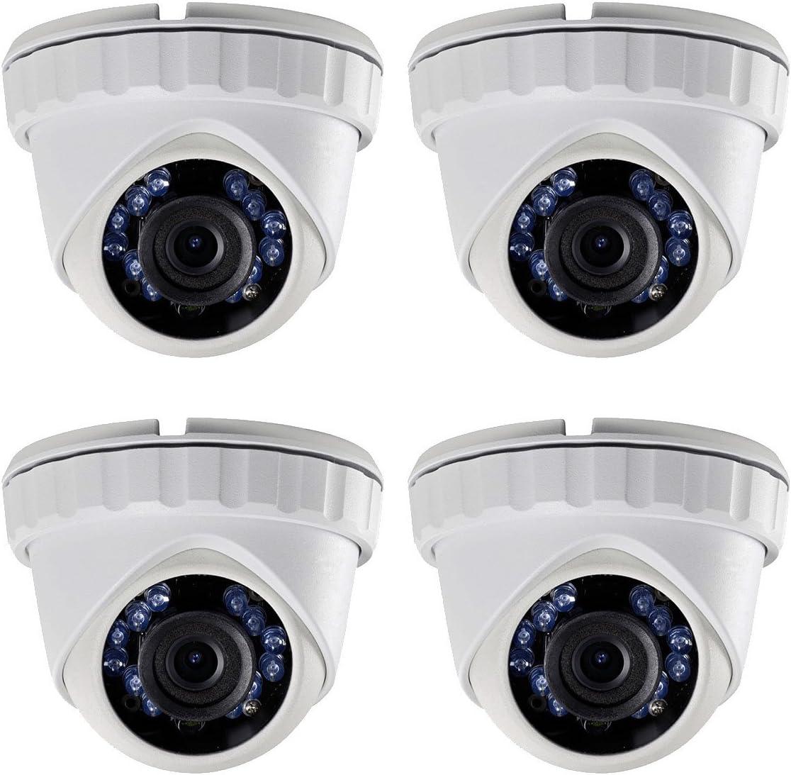 (4X) CMHT2122-28 HD-Tvi 2.1MP 1080P 2.8mm Smart IR LED 65ft Security Camera