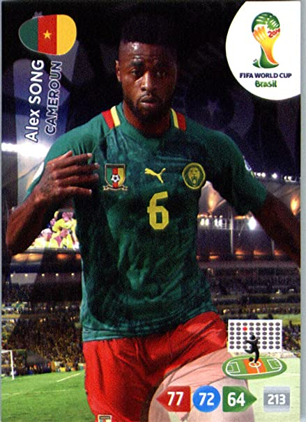 low cost 78f2a 8f903 2014 FIFA Panini Adrenalyn World Cup Soccer Card Alex Song ...