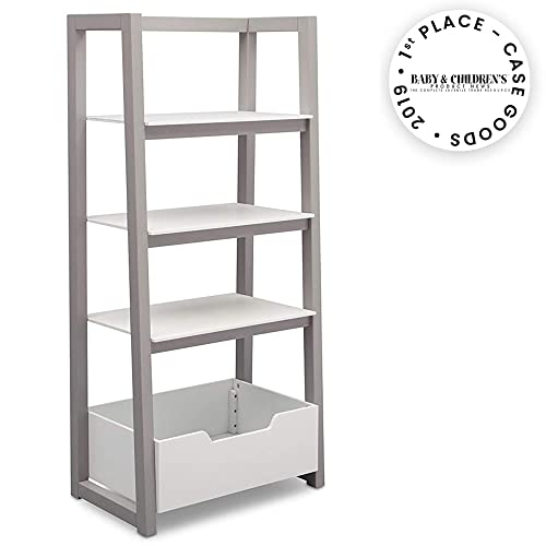Delta Children Ladder Shelf, White Grey