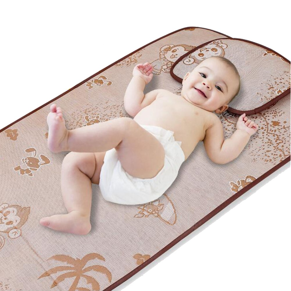 Fairy Baby Summer Cool Sleeping Mat Baby Bed Pad with Pillow Set,22.04'' 39.37''