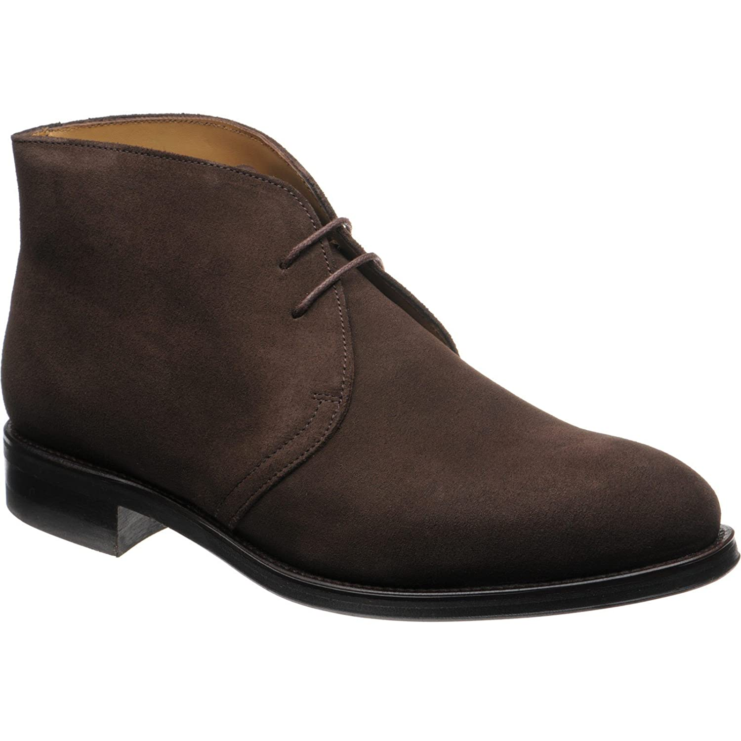 Herring Canterbury Rubber-Soled Chukka Boots in Brown Suede