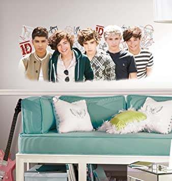 One Direction 1D Peel and Stick Wall Graphix Wall Decal 18 x 40in