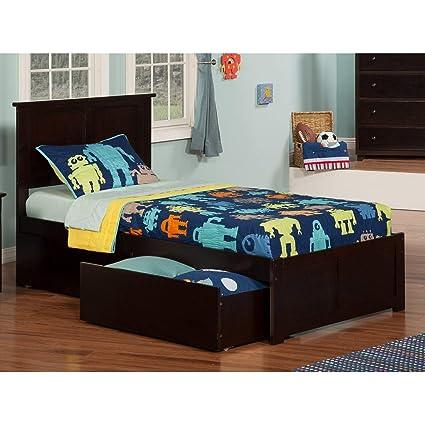 Atlantic Furniture Madison Twin Panel Headboard in Walnut