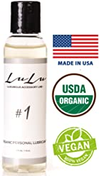 Organic Lubricant By LuLu - 4 oz Personal Natural Aloe Vaginal Anti Dryness Moisturizing Formula - Paraben and Glycerin Free - Made in USA - Vegan Hemp For Women Men and Couples
