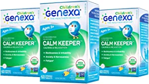 Genexa Calm Keeper for Children – 180 Tablets (3 Pack) | Certified Organic & Non-GMO, Physician Formulated, Homeopathic | Calming & Relaxation Aid for Children