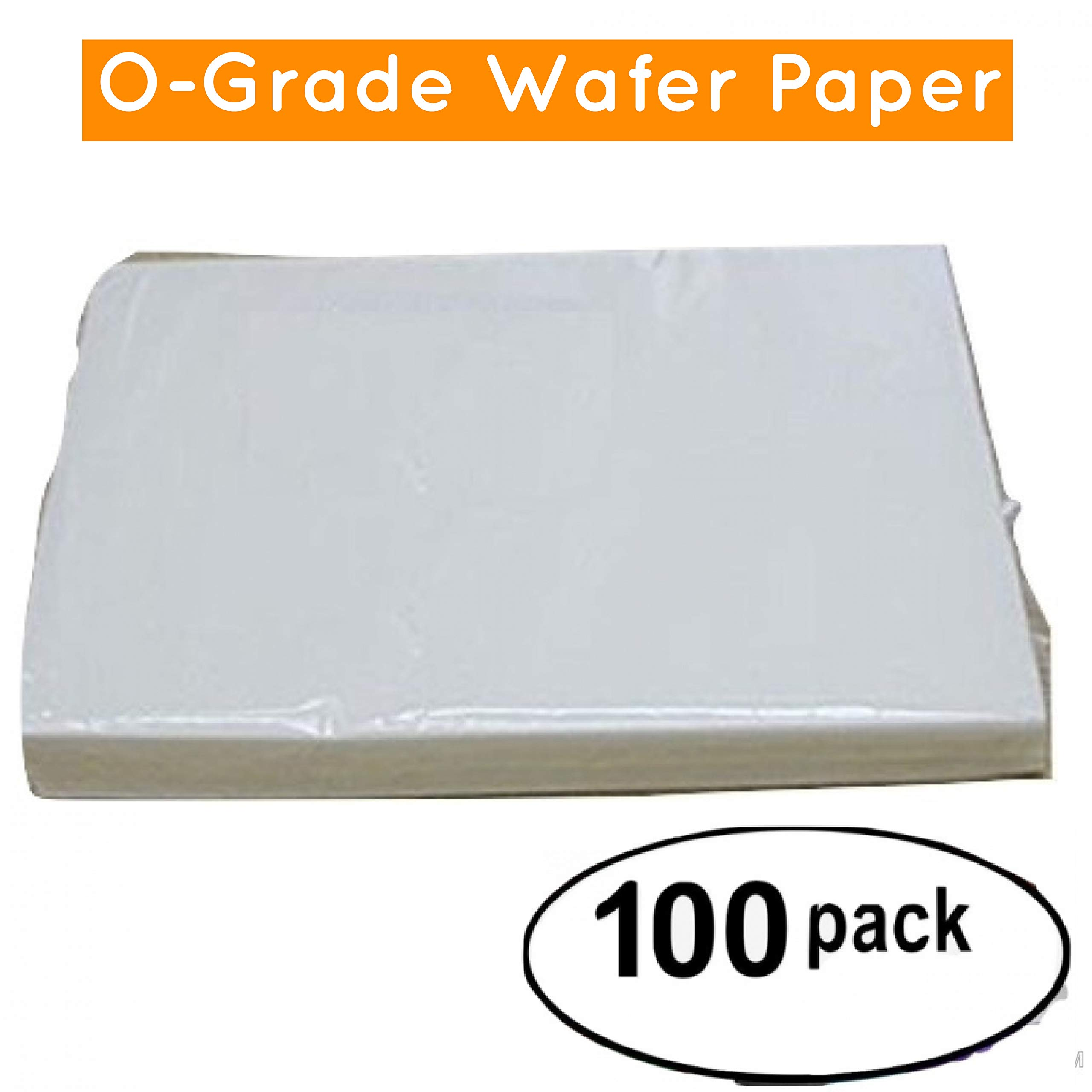 Wafer paper O quality 8.5 x 11, Pack with 100 sheets,paper for print and for makes flowers (white, 8 by 11-Inch)