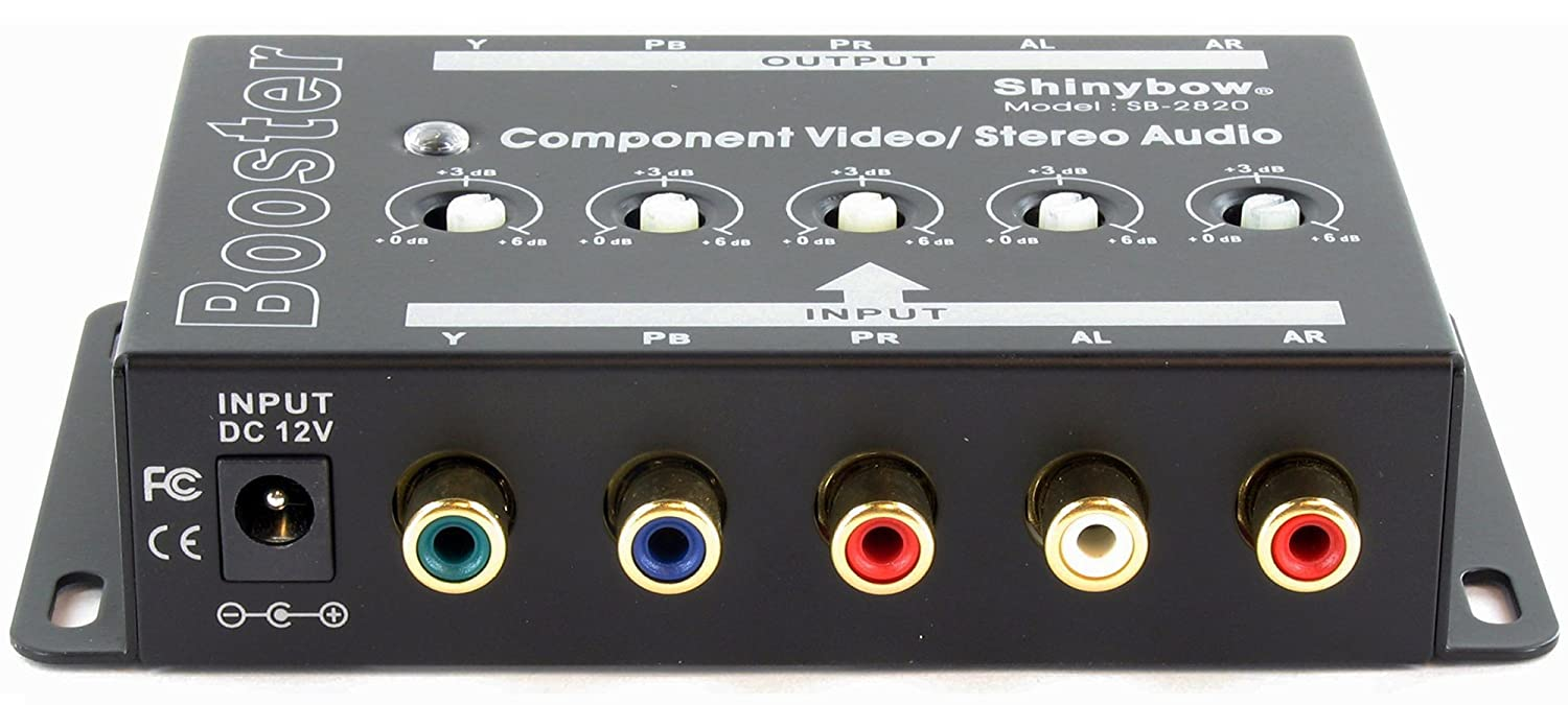 Shinybow Component 5-RCA Video Stereo Analog Audio Booster Extender Amplifier SB-2820