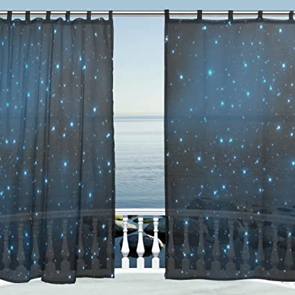 office window curtains roller alaza window decoration sheer curtain panelsgalaxy space nebula star universe meteordoor amazoncom