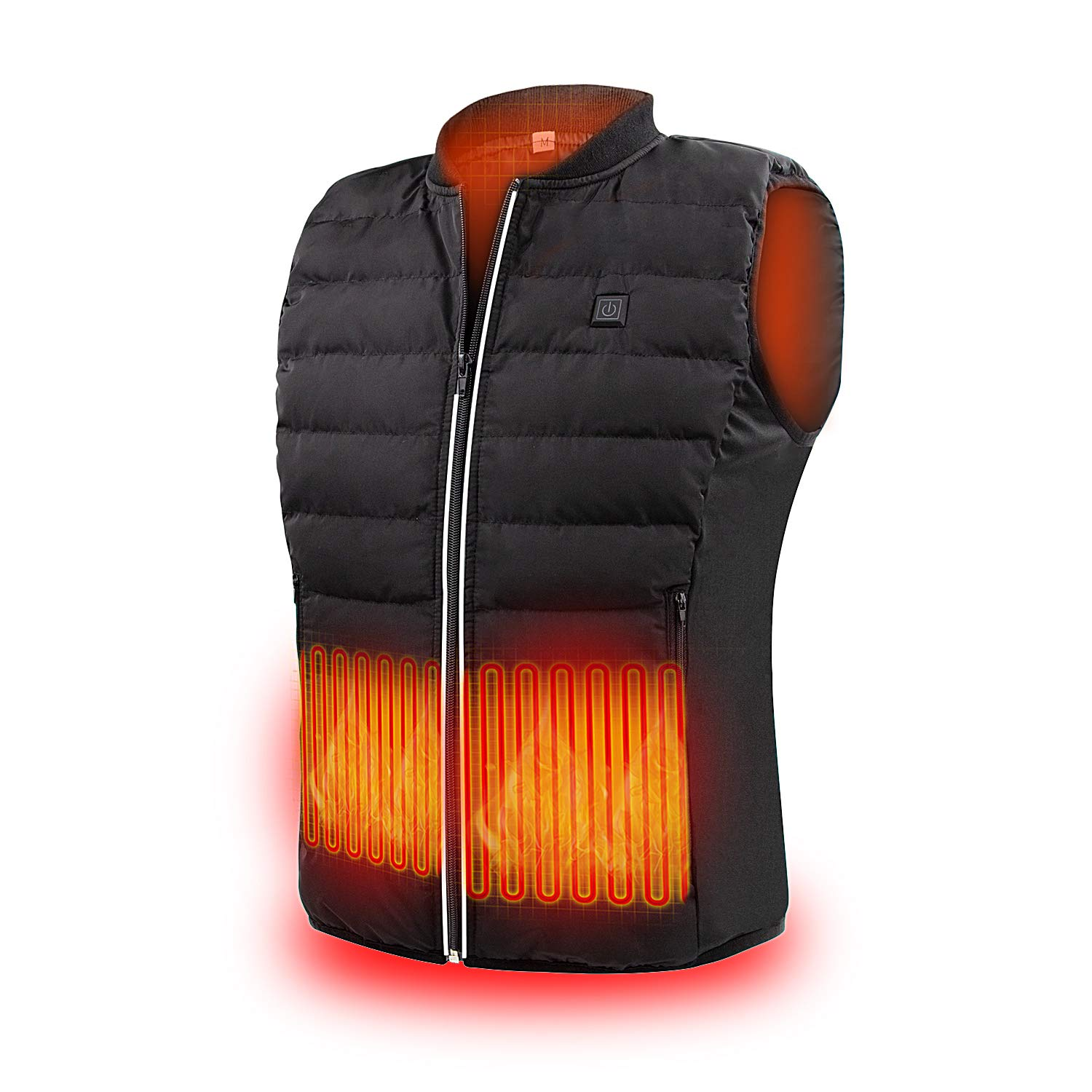 ZLTFashion 5V Heated Vest USB Charging Electric Lightweight Heating Clothing Warm Vest Washable Adjustable Heated Jackets for Men Women Motorcycle Camping (Battery Not Included)
