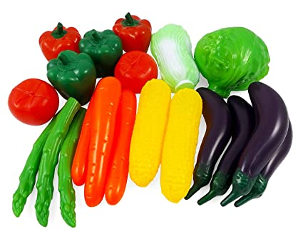 Liberty Imports Life Sized Bag Of Vegetables Play Food Playset For Kids Great With Fruits Set