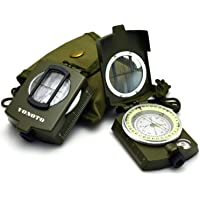 VONOTO Wocharger Professional Multifunction Military Army Metal Sighting Waterproof Compass