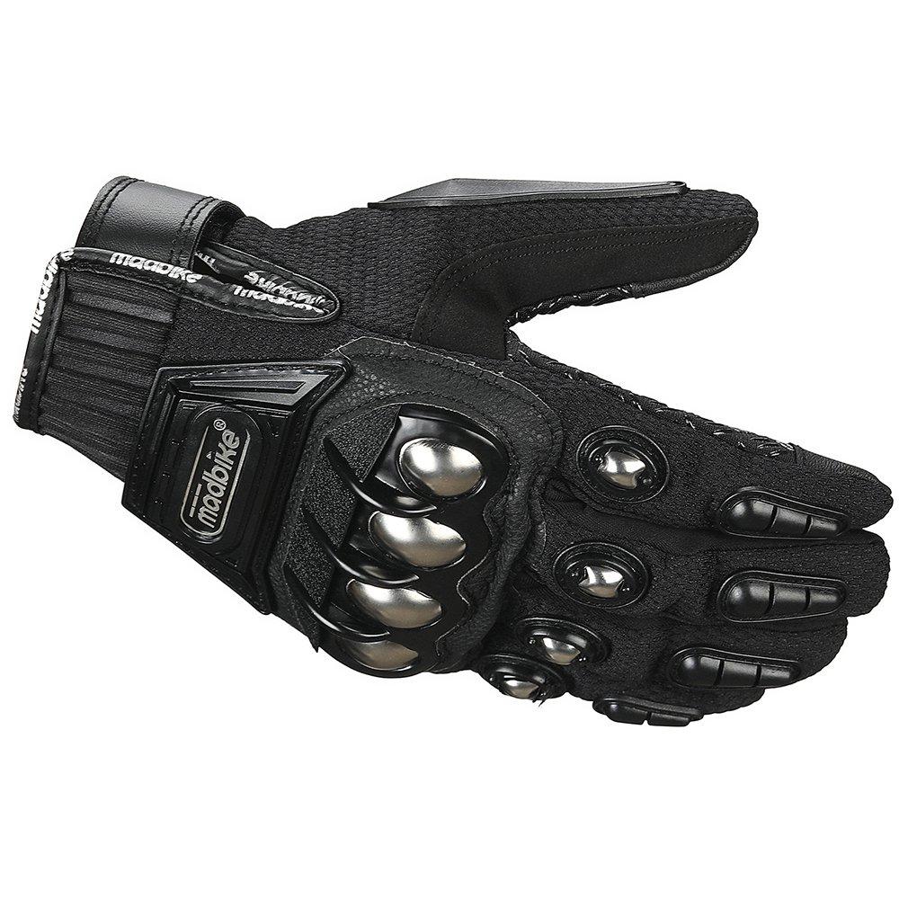 ILM Steel Knuckle Motorcycle ATV Motocross Dirt Bike Racing BMX MX Downhill Tactical Gloves (M, BLACK) by ILM (Image #3)