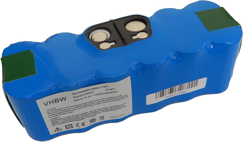 vhbw Batería Ni-MH 4500mAh (14.4V) compatible con iRobot Roomba 774, 775, 775 Pet, 776, 776p, 782, 782E aspirador, robot aspirador reemplaza 11702.: Amazon.es: Hogar