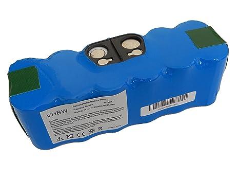vhbw Batería Ni-MH 4500mAh (14.4V) para aspirador, robot aspirador ...