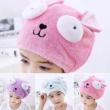 Sombrero de secado de pelo, toalla de pelo de terciopelo, toalla de cabeza para
