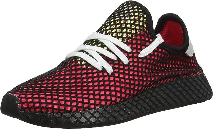 adidas Deerupt Runner Sneakers Fitnessschuhe Damen Herren Unisex Rot/Schwarz/Gelb Größe 37 1/3 bis 48