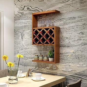 wssf- Wein Hängeschrank Grid Rot Wein Rack Zum Aufhängen Weinglas ...