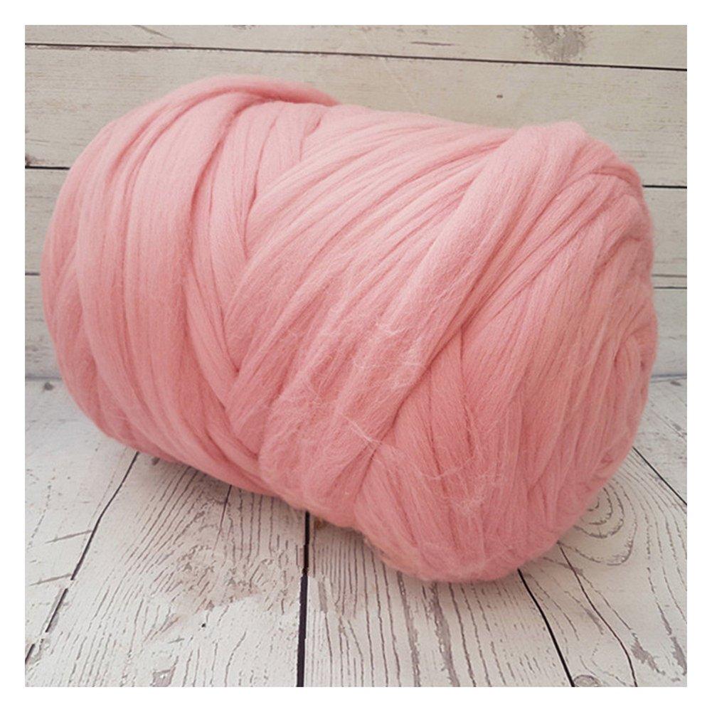 Chunky Yarn Super Bulky Giant Wool Yarn Roving For Arm Knitting Extreme Knitting (4.4lbs(2kg), Pink) by zhengjun (Image #4)