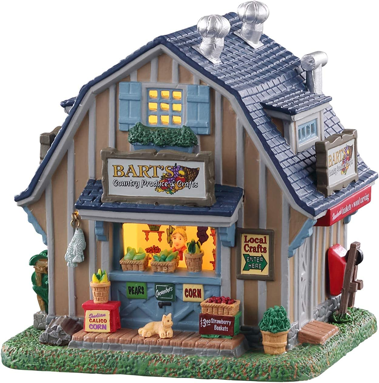 Lemax Village Collection Barts Country Produce /& Crafts #05663