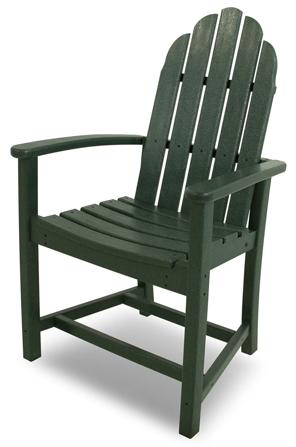 POLYWOOD ADD200GR Classic Adirondack Dining Chair, Green
