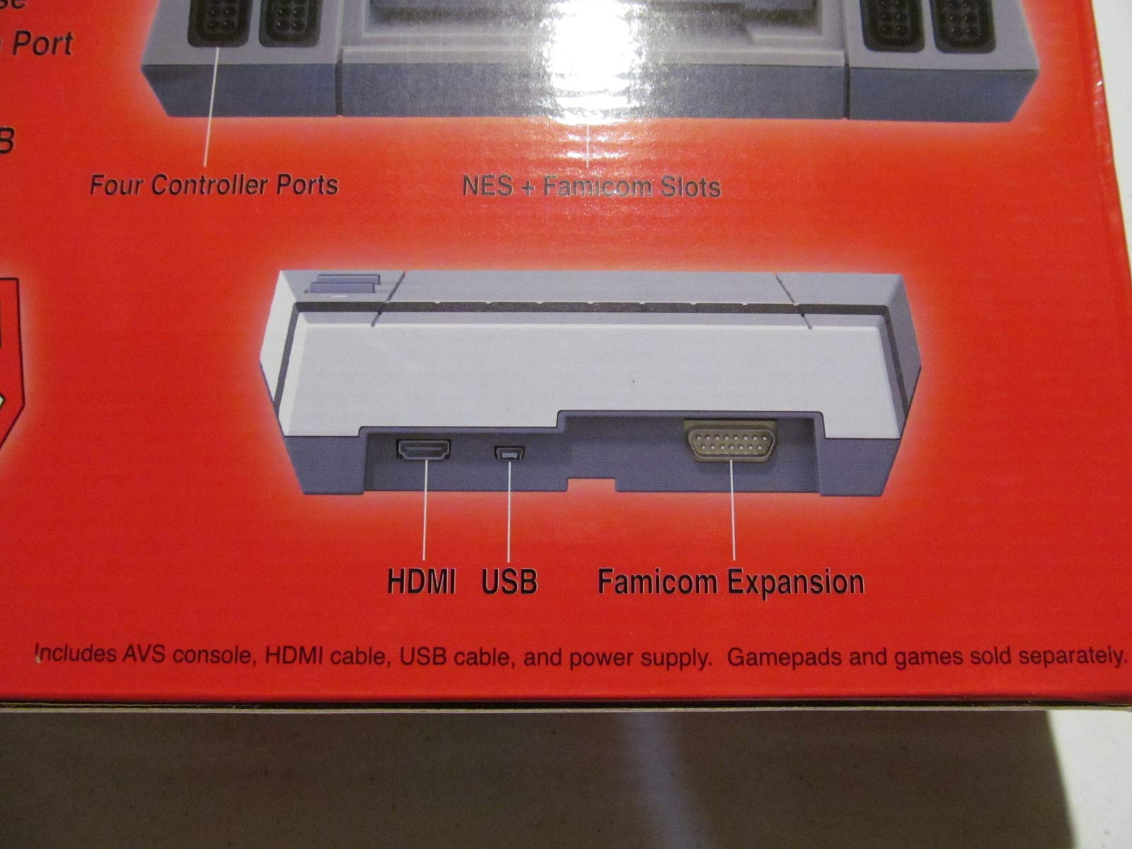 AVS Advanced Video System Console, play NES Nintendo Entertainment System cartridges in HD via HDMI