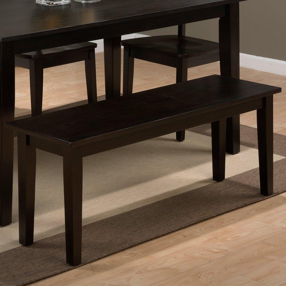 Jofran Simplicity Wood Dining Bench in Espresso