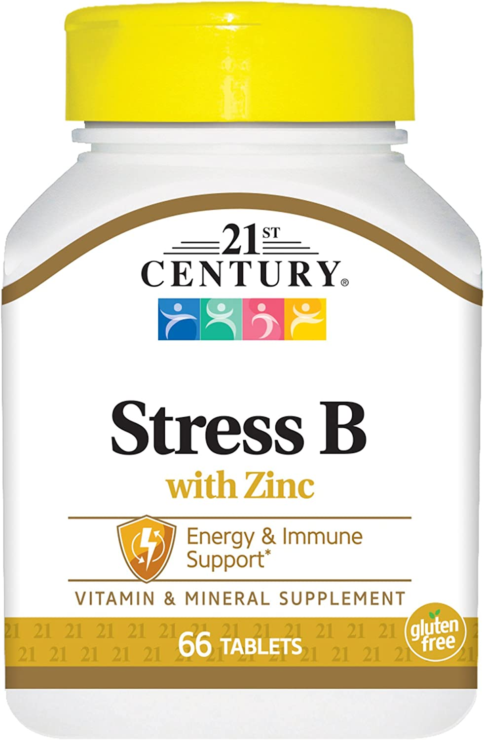 21st Century Stress B with Zinc Tablets, 66 Count (Pack of 2)