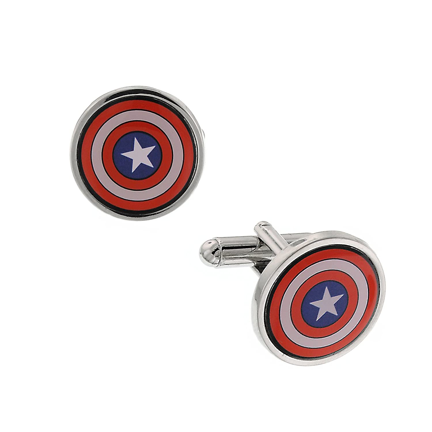 Captain America Freedom Cufflinks Officially Licensed by MARVEL + Comic Con Exclusive