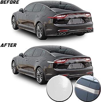 Kia Stinger RPMTRADE Matt Black Color Rear Tail Lamp Side Point Decal Carbon Sticker /& E Logo Metal Sticker for 2018 2019 2020