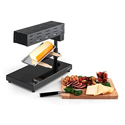 Klarstein Appenzell 2G Schweizer Raclette Grill • Raclette para Queso • Parrilla de Mesa • Queso Fundido Tradicional • 600 W • Temperatura Regulable • ...