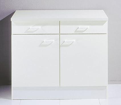 Comforium Mueble bajo Cocina Blanco con 2 Puertas y 2 ...