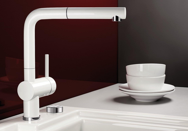 Blanco Linus-S, Küchenarmatur - Einhebelmischer mit ausziehbarer ...