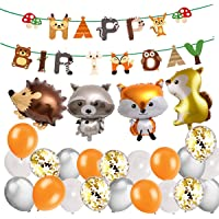 Decoraciones De Cumpleaños De Niño Korins Globos de animales del bosque salvaje de la selva para la fiesta de cumpleaños…