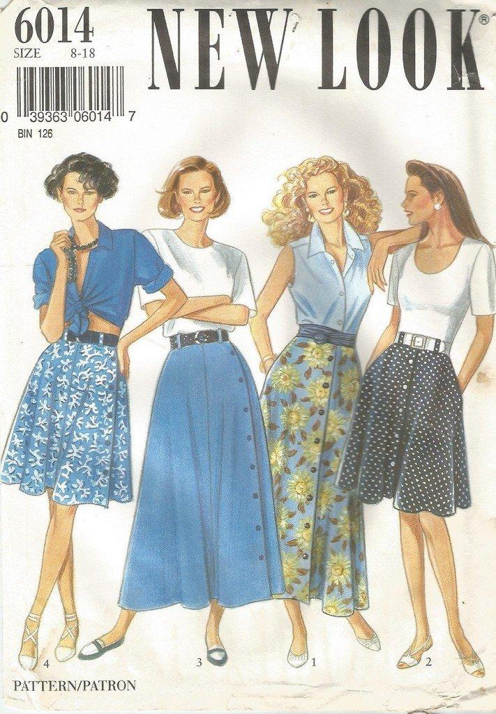 Simplicity 6014 - Patrones de costura para faldas de mujer (tallas ...