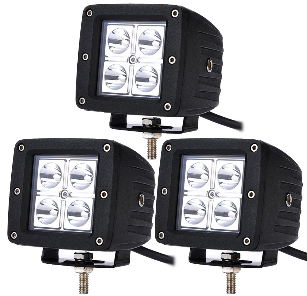 ALPHA DIMA 6X 12W LED Arbeitsscheinwerfer IP67 Offroad Lampe Scheinwerfer LED Arbeitslicht 12V 24V Zusatzscheinwerfer R/ückfahrscheinwerfer