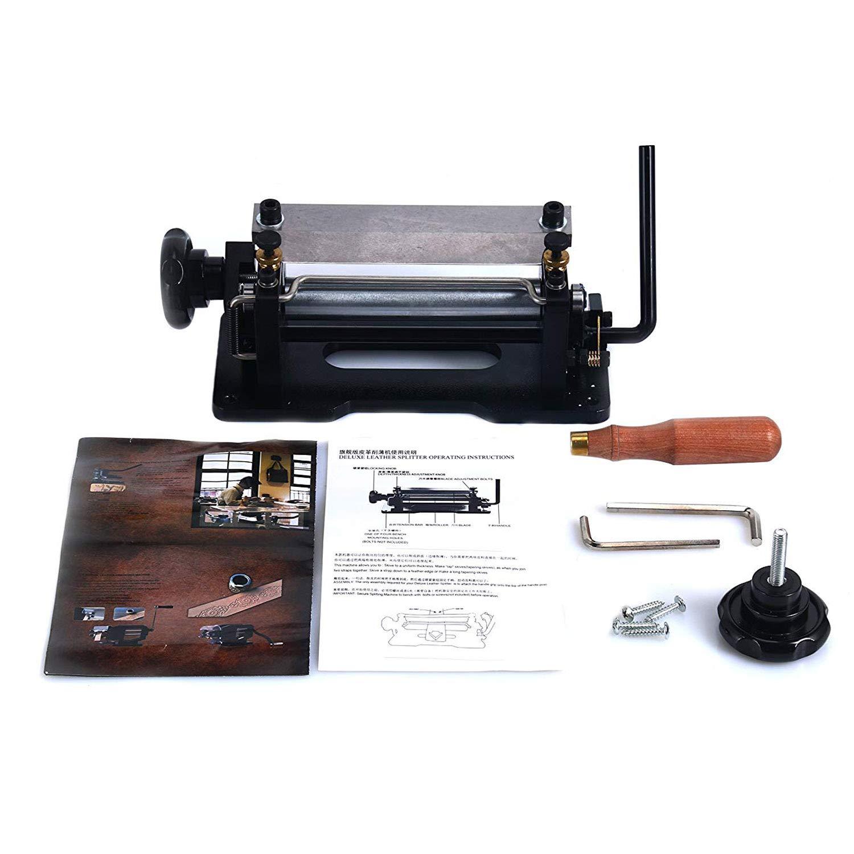 YaeTek 6'' DIY Leather Skiver Peeler Splitter Shovel Skin Skiving Paring Peeling Machine
