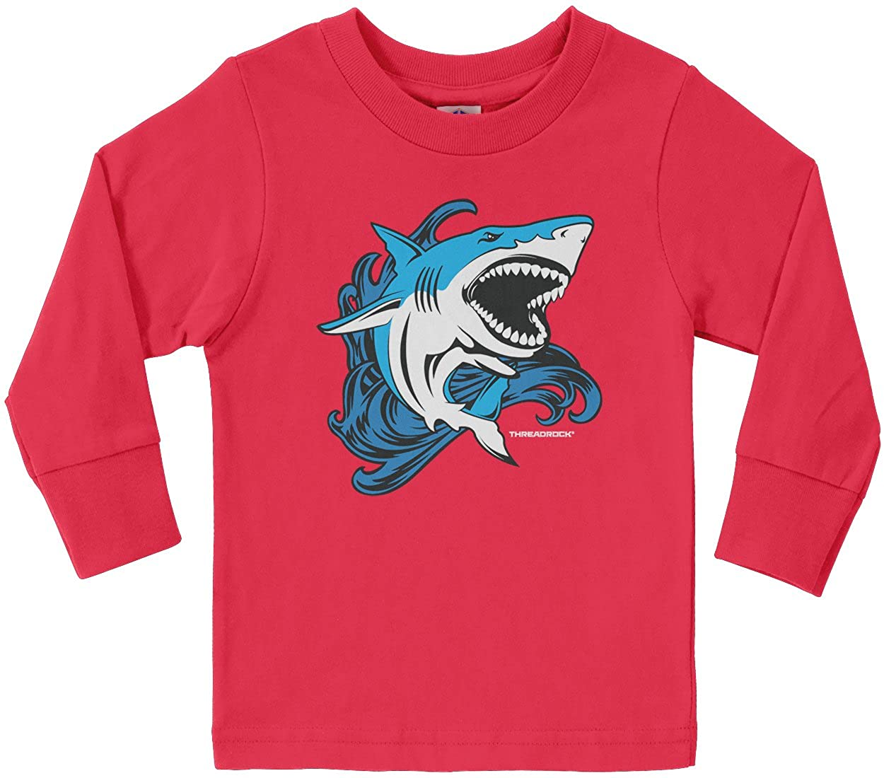 43317b840 Amazon.com: Threadrock Little Boys' Shark Toddler Long Sleeve T-Shirt:  Clothing