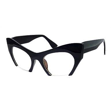 Amazon.com: Retro hign fondo corte las mujeres anteojos de ...