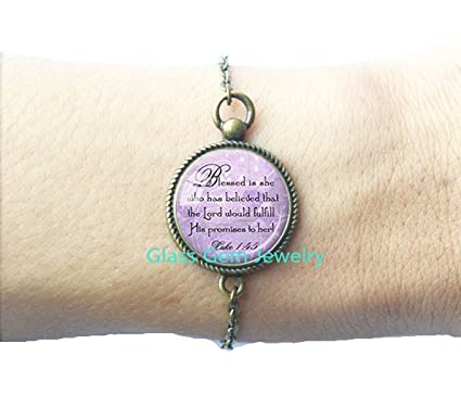 Bible Quote Bracelet Best Friend God Refuge Strength Birthday Gift Mom Daughter Jewelry Sympathy
