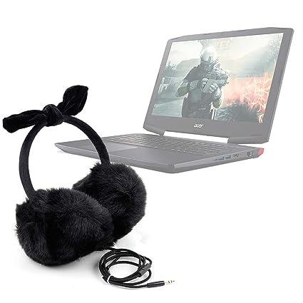 DURAGADGET Auriculares de diadema acolchados con exterior peludo de peluche para Portátil Acer Aspire ...