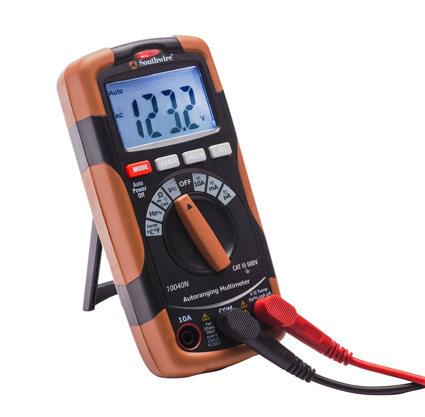Southwire Tools & Equipment 10040N Auto-Ranging Digital Multimeter, 12 Functions by Southwire