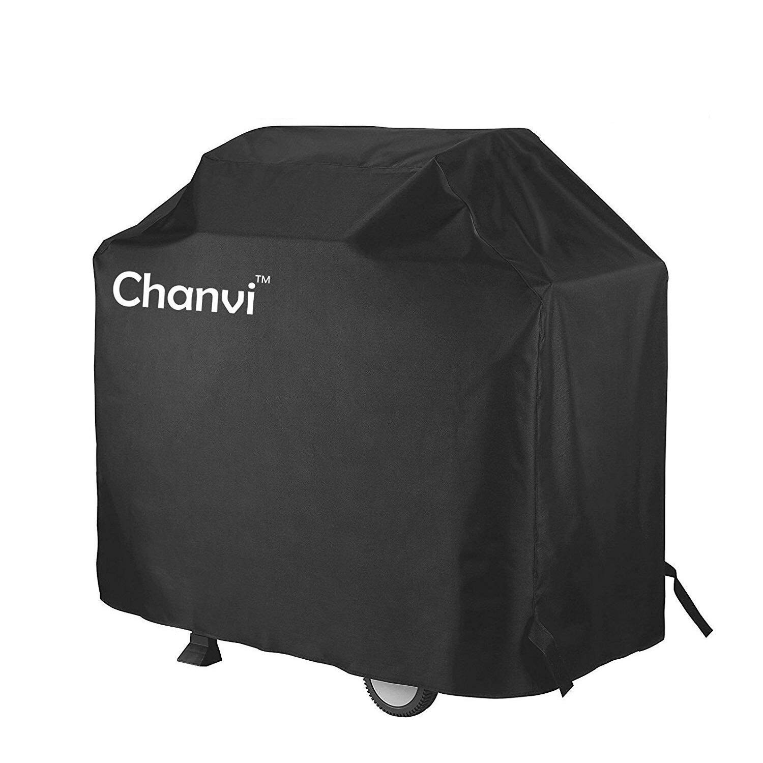 chanvi BBQ Cover Gas Grill Covers, 58-inch 600D Heavy Duty Waterproof -Duty Waterproof Patio Outdoor Black CANVAS Barbecue