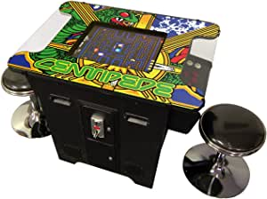 Prime Arcades Cocktail Arcade Machine 412 Games in 1 Commerical Grade with Set of 2 Chrome Stools 5 Year Warranty