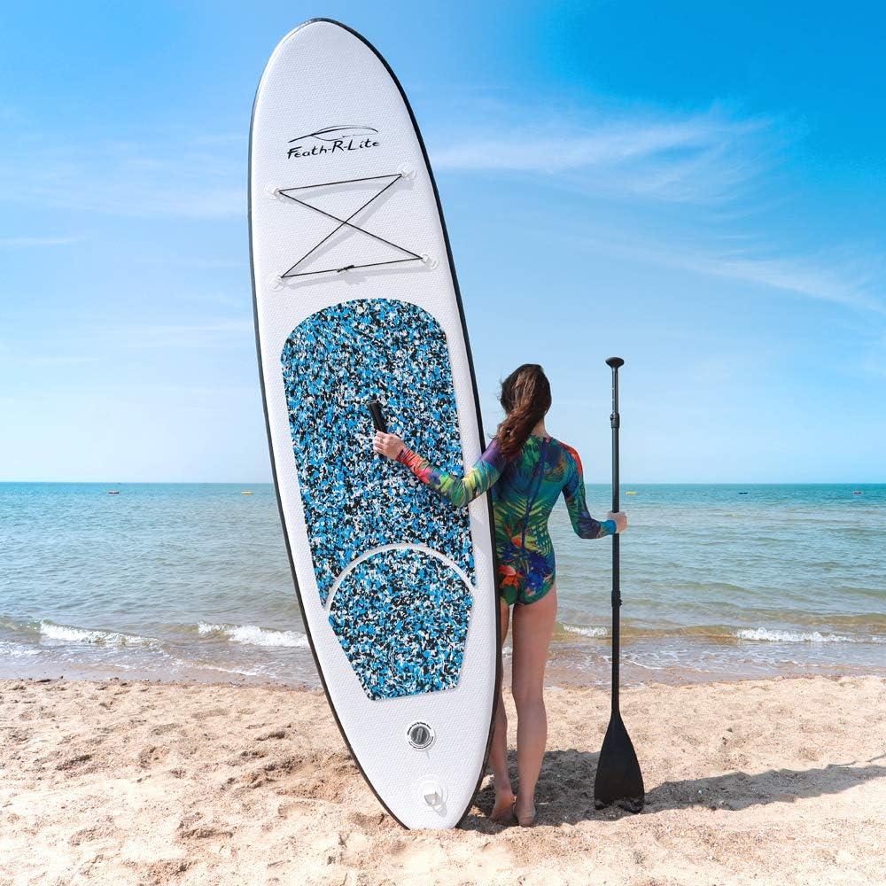 remo ajustable FunWater SUP Stand Up Paddle Board hinchable 305 x 76 x 15 cm bolsa impermeable correa hasta 100 kg de capacidad de carga accesorios completos bomba mochila de viaje