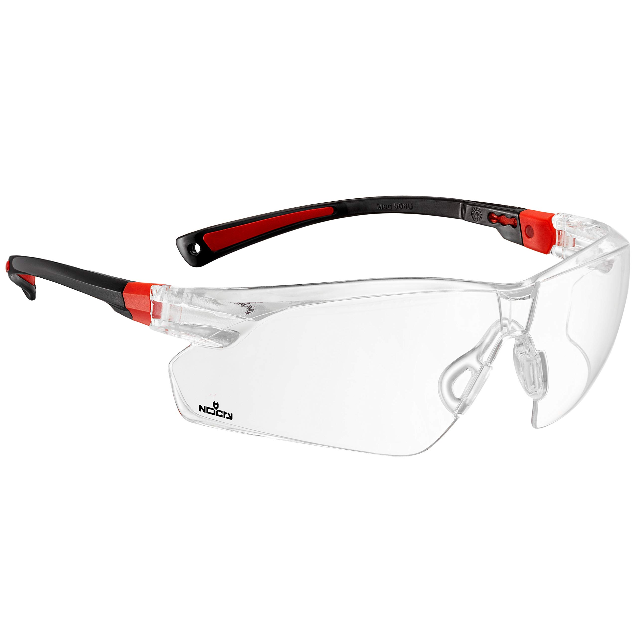 NoCry Safety Glasses with Clear Anti Fog Scratch Resistant Wrap-Around Lenses and No-Slip Grips, UV Protection. Adjustable