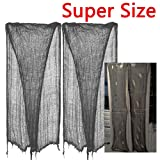 "Amazon Price History for:2 PCS ZHIHU Super Size 180""-300"" Creepy Halloween Creepy gray black purple white Cloth for Halloween Party Supplies & Decorations (300inch, gray)"