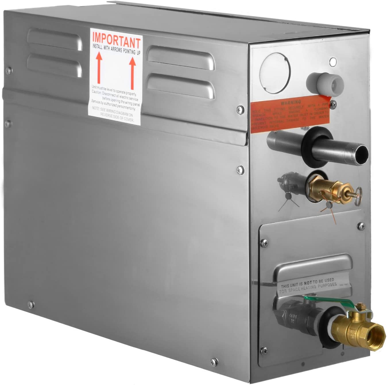 Guellin 4KW Generador de Vapor Portátil Generador del Vapor de Sauna Generador del Vapor con Temperatura y Contador de Tiempo del Regulador de Digitaces (4KW)