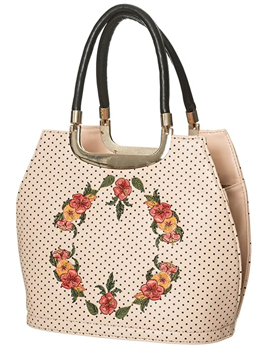 Retro Handbags, Purses, Wallets, Bags Womens Banned Ring of Fire Handbag (Cream) $52.88 AT vintagedancer.com