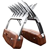 Metal meat claws -K' treasure (Corrosion Proof) Stainless steel- BBQ chicken, Pork Pullers Paws with durable wooden handles - a Meat Rake for Lifting,Shredding Roasts and Briskets (2PCS)