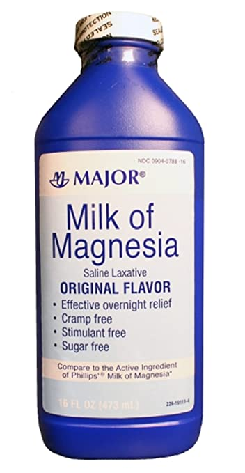 MAJOR MILK OF MAGNESIA ORIG MAGNESIUM HYDROXIDE-400 MG/5ML White 16OZ UPC 309040788160